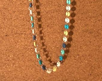 Multicolor Necklace earrings