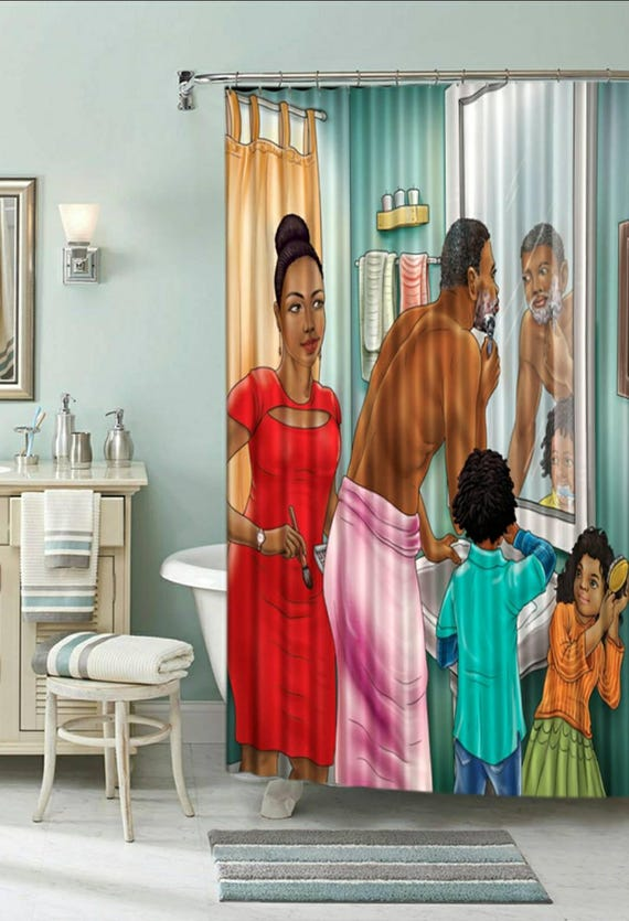 Afrocentric Shower Curtain Pride In Family With