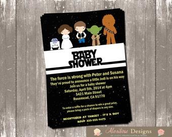 Star Wars Baby Shower Invitation DIGITAL FILE