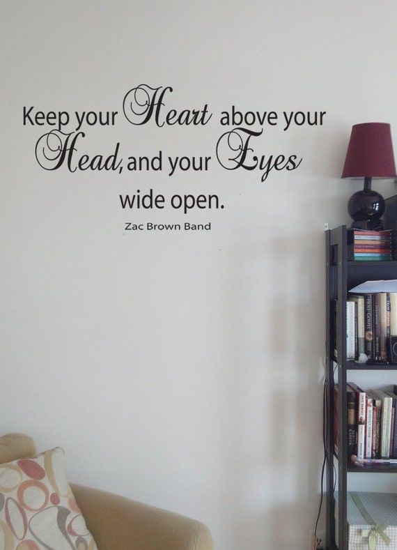 Items Similar To Keep Your Heart Above Your Head And Your