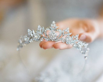 Bridal Tiara Wedding Tiara DIANA Hairpiece Rhinestone Tiara Rhinestone Crown Wedding Crown Crystal headband Bridal hair piece Bridal crown