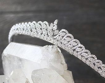 Bridal Tiara -  COLETTE, Swarovski Bridal Tiara, Wedding Tiara, Wedding Crown, Bridal Crown, Bridal Headpiece CZ Tiara
