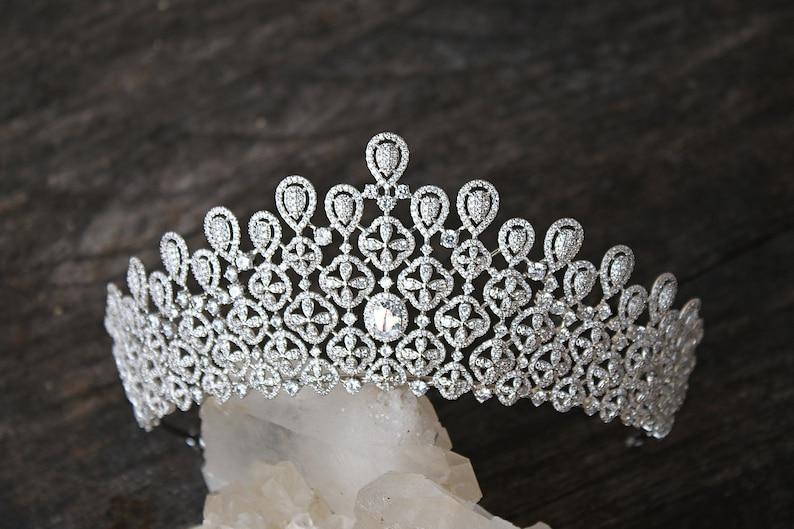 6adb4a04c Tiara Crown Swarovski Crystal Bridal Tiara Tiara MILA Bridal   Etsy