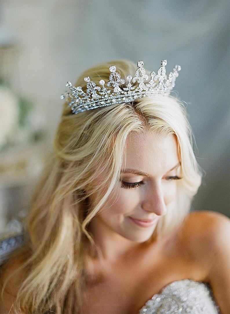 Bridal Tiara  QUEEN VICTORIA Royal Bridal Tiara Crystal image 0