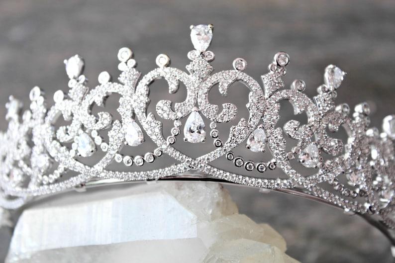 c52f0d8ef2e Tiara Tiara Swarovski Crystal Tiara Tiara SPENCER Tiara