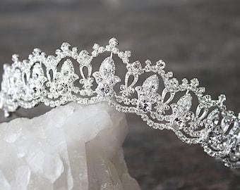 Tiara Wedding Tiara Swarovski Tiara SERENA Silver Tiara Crystal Bridal Tiara Crystal Wedding Crown Silver Tiara Wedding Tiara Gold Crown