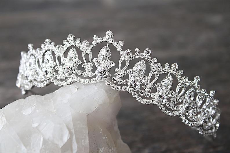 0ea93a022009 Tiara Wedding Tiara Swarovski Tiara SERENA Silver Tiara