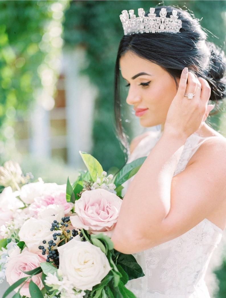 Wedding Tiara Crystal Tiara  KATHRYN Swarovski Bridal Tiara image 0