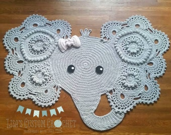 Elephant Nursery Rug For Baby Floor – Toqueglamour | 270x340