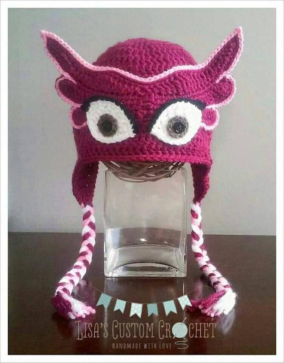 PJ Masks Inspired Owlette Crochet Hat Pattern  cae0f16668b