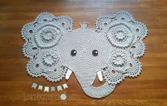 Baby Kids Room Crochet Large Elephant Rug Blanket Girl Bow Boy ...   363x570
