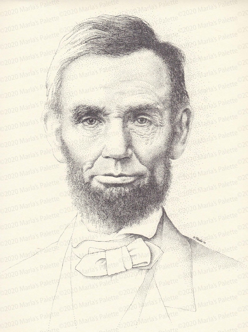 Abraham Lincoln 11x14 Black & White Signed and Numbered image 1