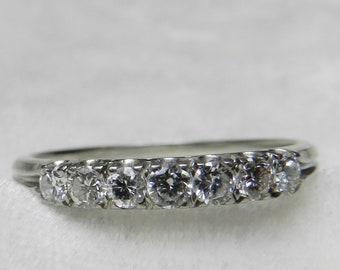 716c8cefa3b Diamond Ring 18K White Gold Diamond Wedding Ring .32 ct Stacking Ring  Engagement Ring Stacking Ring Anniversary Diamond Ring 18K Gold