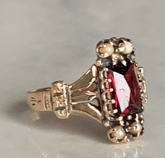Victorian Garnet Ring Antique Garnet Engagement Ri