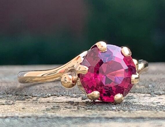 Rare Rhodolite Garnet Ring Victorian Ring Gothic G