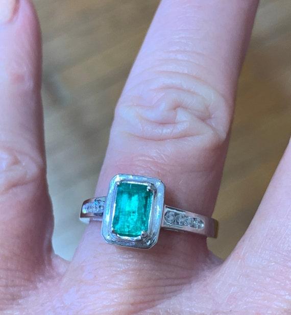 Emerald Ring Platinum Diamond Emerald Engagement R