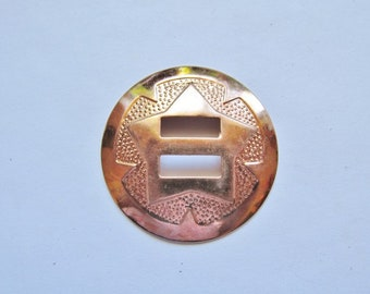 """Copper slotted concho 1 1/2"""" (pack of 5) #Concho-4"""