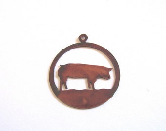 Goat in circle jewelry pendant #P20