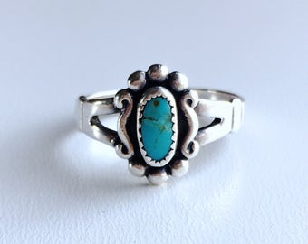 Vintage Bell Trading Post Turquoise and Sterling silver ring