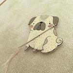 Pug - Needle Minder - Cross Stitch