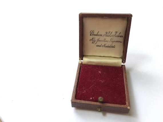 Retro Jewelry Box Vintage Jewellery Box British Jewellers Box.