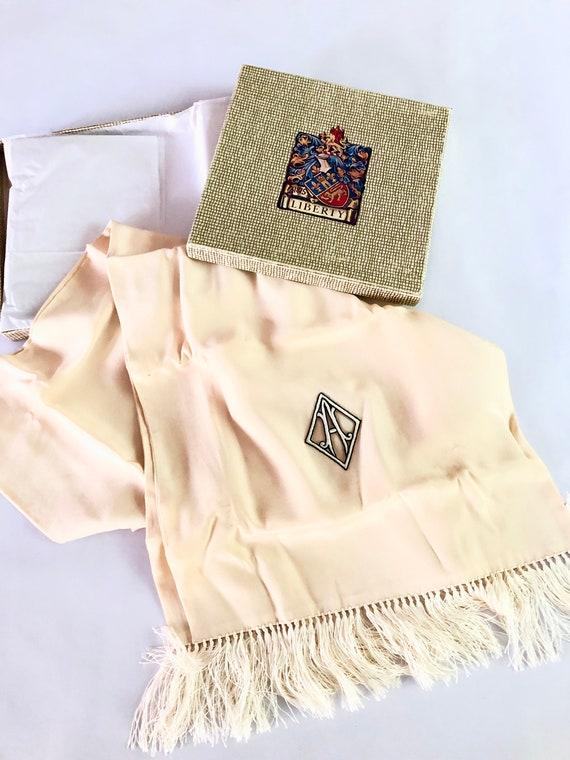 "Vintage Monogrammed "" A "" Silk Scarf, ""A""  1920's"