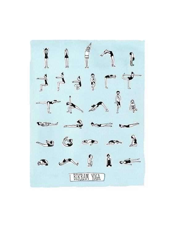 It is a picture of Bikram Yoga Poses Chart Printable regarding inner peace
