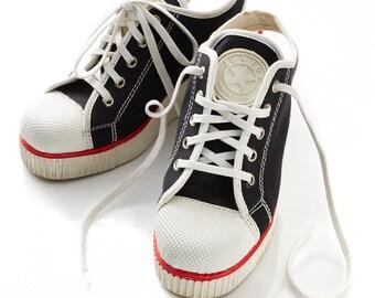 686f7558c789 Vintage Jean Paul Gaultier 80s 90s JPG chunky platform sneakers - CLEARANCE  SALE were 225 now 100