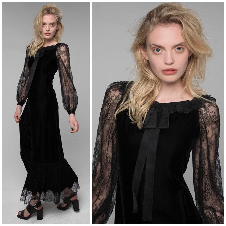 519a5fa43c Vintage A W 1977 GIVENCHY Haute Couture dress velvet lace silk