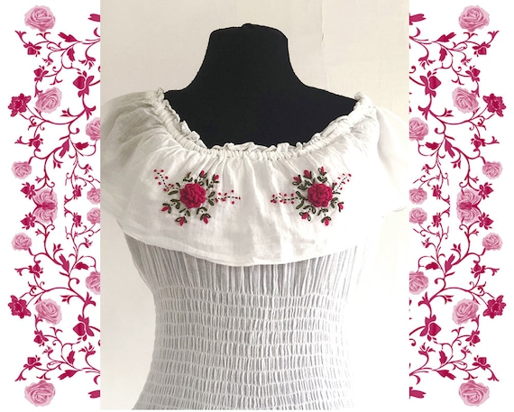 1970's Vintage Embroidered Dress - image 3