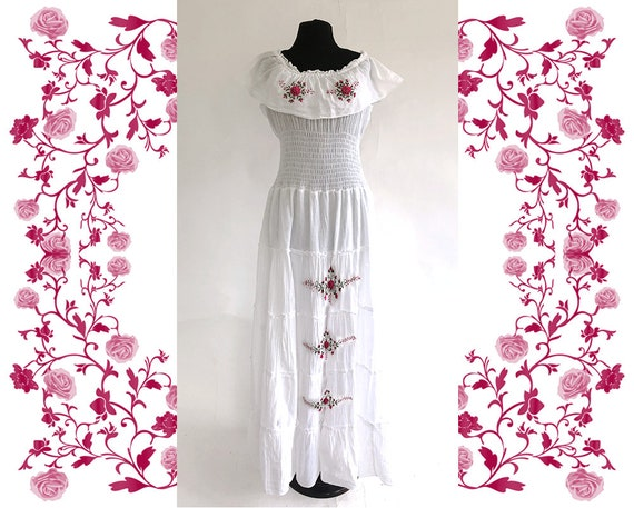 1970's Vintage Embroidered Dress - image 1