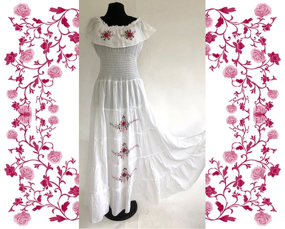 1970's Vintage Embroidered Dress - image 2