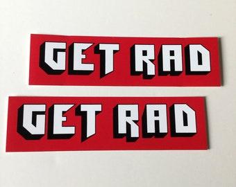 GET RAD sticker decal (set of 2)