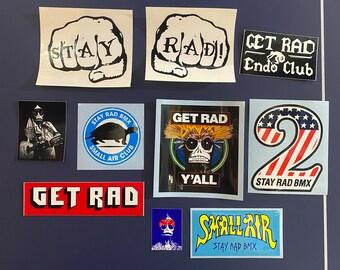 Stay Rad BMX sticker-pack: TEN rad stickers!