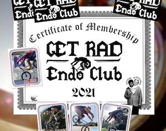 Get Rad Endo Club Membership Pack: BMX stickers +  trading card + membership certificate = RAD!