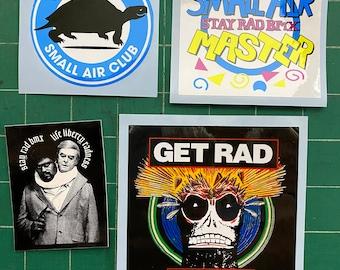 STAY RAD BMX Small Air Club / Master / Get Rad Y'all Sticker (4-pack)
