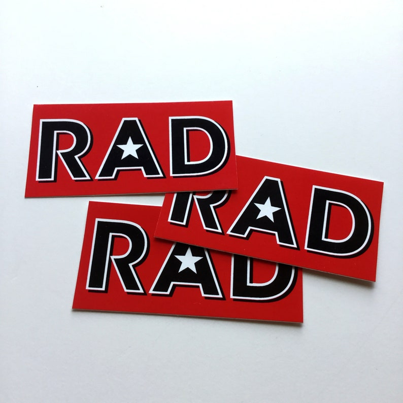 RAD 3 x sticker pack image 0