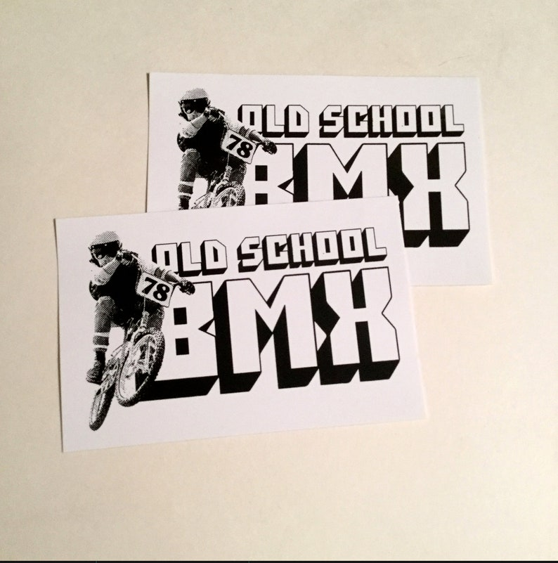 OLD SCHOOL BMX 78 sticker decal set of 2 image 0