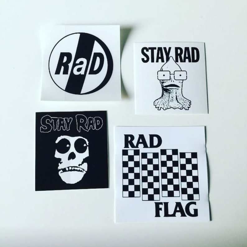 Punk Rock Sticker Pack decal set of 4 image 0