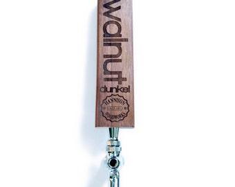 Custom laser cut beer tap handle with logo