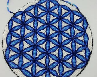 Sacred Fire Flower of Life Wall Hanging Home Decor