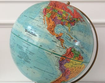 "vintage Replogle 12"" world globe"