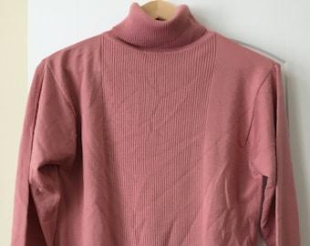 525227383d vintage Pendleton pink turtleneck sweater small