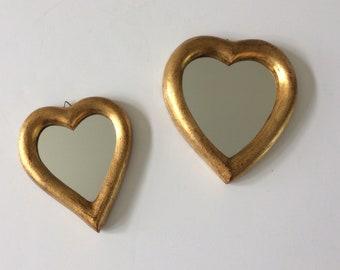 vintage Italian heart mirror set
