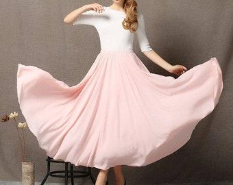 536f64cd6 Chiffon Skirt, womens skirts, pink chiffon skirt, floaty maxi skirt, chiffon  maxi skirt, long chiffon skirt, chiffon wedding skirt C595
