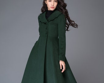 c9673df773f Green wool coat