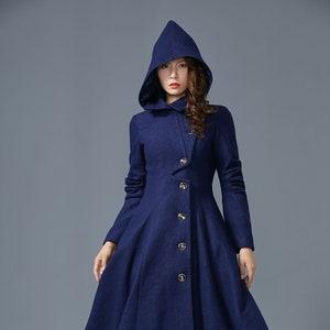 Wool Princess coat, 1950s wool coat, Swing coat Vintage, Long wool coat, Wool coat women, winter coat women, fit and flare coat 1640#
