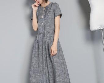 431bc95e91e Linen shirt dress with pocket