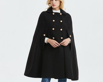 55a8ecb973b Black wool cape