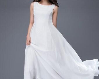 wedding dress, bridesmaid dress, Chiffon Dress, white dress, womens dresses, maxi dress, long white dress, white prom dress, dress  C879